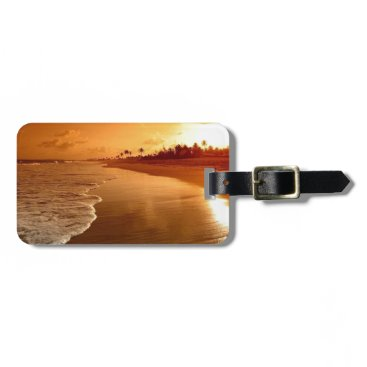 paradise beach hawaii luggage tag