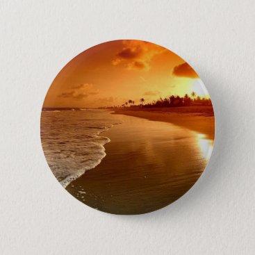 paradise beach hawaii pinback button
