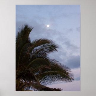 Paradise Beach Moon Poster