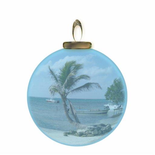 Paradise Beach Ornament Photo Sculpture Ornament