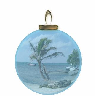 Paradise Beach Ornament Photo Cut Out