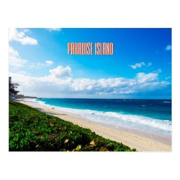 Beach Themed Paradise Beach Postcard