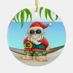 Paradise Beach Santa - SRF Christmas Tree Ornaments