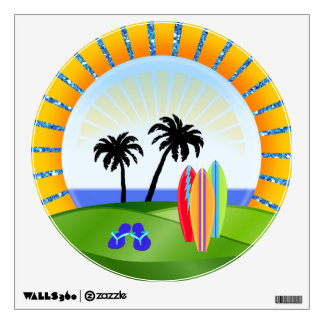Paradise Beach Sun Logo  - SRF Wall Sticker