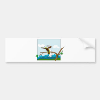 Paradise Bird Bumper Sticker