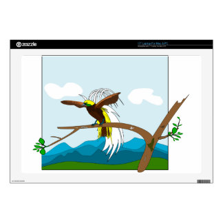 "Paradise Bird Decal For 17"" Laptop"