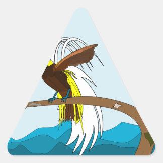 Paradise Bird Triangle Sticker