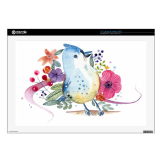 Paradise Bird Watercolor Illustration Decals For Laptops