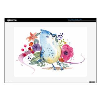 Paradise Bird Watercolor Illustration Skins For Laptops