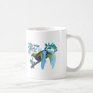 Paradise Birds in Watercolor Coffee Mug