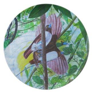 Paradise Birds in Watercolor
