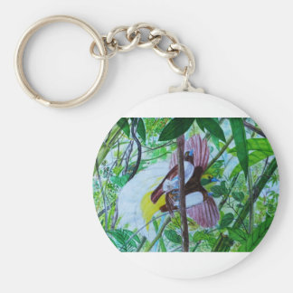 Paradise Birds in Watercolor Keychain