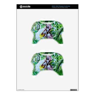 Paradise Birds in Watercolor Xbox 360 Controller Skin