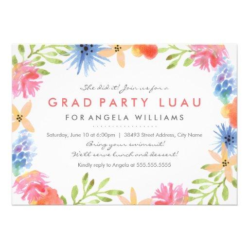 Paradise Birthday Luau Invite