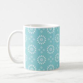 Paradise Blue And White Motif Mug