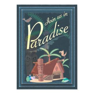 Paradise Blue Hawaii Margarita Party Invitation