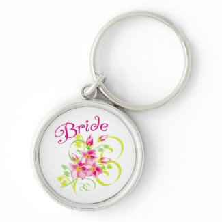 Paradise Bride T-shirts and Gifts keychain