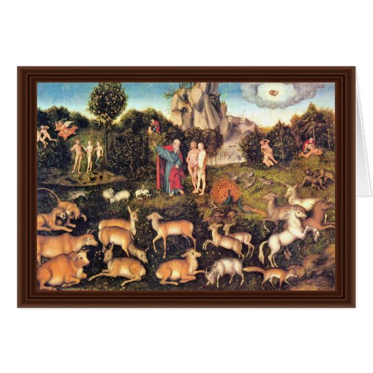 Paradise By Cranach D. Ä. Lucas (Best Quality) Card