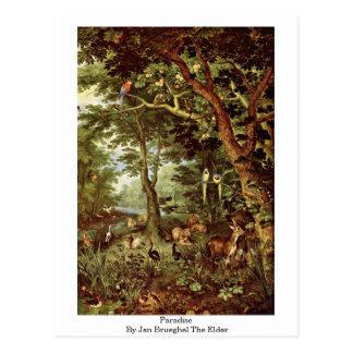 Paradise By Jan Brueghel The Elder Postcard