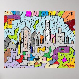 Paradise City Art Poster