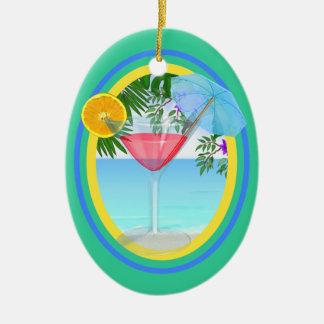Paradise Cocktail Ceramic Ornament