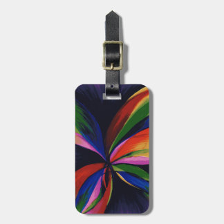 Paradise Colorful Abstract Art Luggage Tag