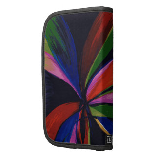Paradise Colorful Abstract Art Phone Case Folio Planner