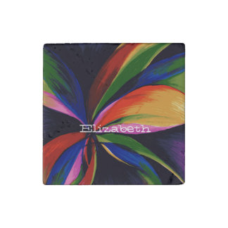 Paradise Colorful Abstract Art Stone Magnet