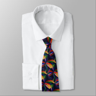 Paradise Colorful Abstract Original Art Necktie