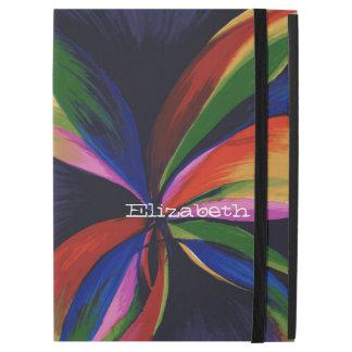 Paradise Colorful Rainbow Abstract Flower Art iPad Pro Case