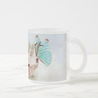 Paradise draws frosted glass coffee mug