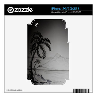 Paradise Dreams Decals For The iPhone 3GS