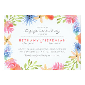 "Paradise Engagement Party Invitation 5"" X 7"" Invitation Card"