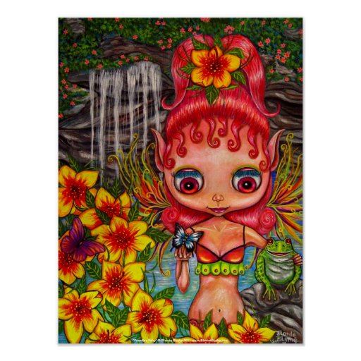 Paradise Fairy With Frog Poster
