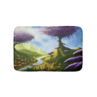 paradise fantasy landscape painting bath mat