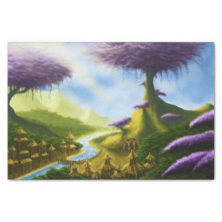 paradise fantasy landscape painting tissue paper