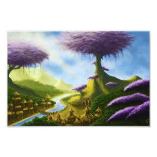paradise fantasy landscape photo print