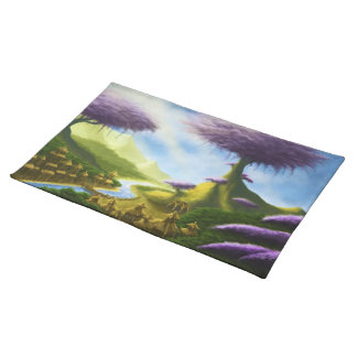paradise fantasy landscape placemat