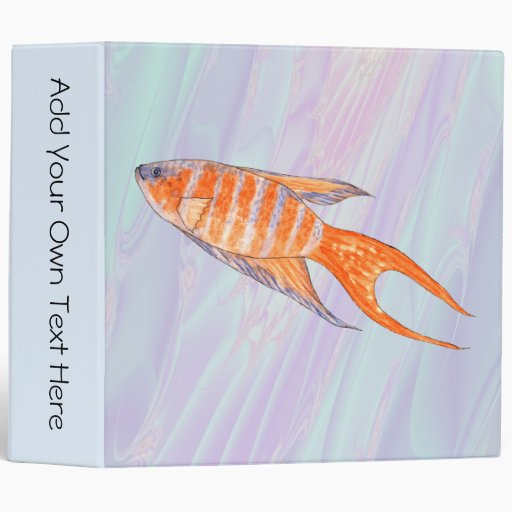 Paradise Fish. 3 Ring Binder