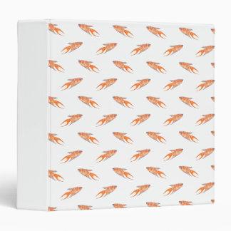 Paradise Fish Pattern. 3 Ring Binder