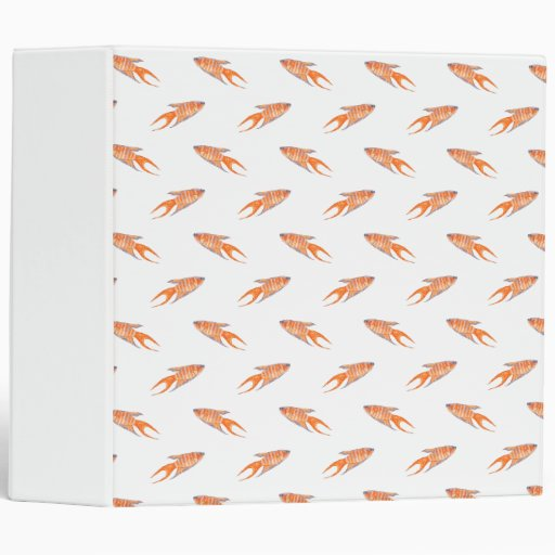 Paradise Fish Pattern. Vinyl Binders