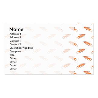 Paradise Fish Pattern. Business Card
