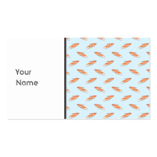 Paradise Fish Pattern on Blue. Business Card