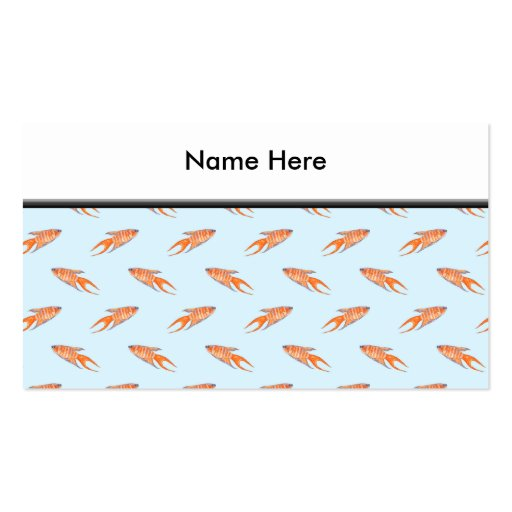 Paradise Fish Pattern on Blue. Double-Sided Standard Business Cards (Pack Of 100)
