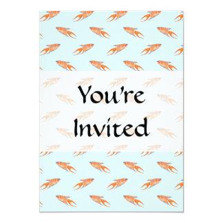 Paradise Fish Pattern on Blue. 5x7 Paper Invitation Card