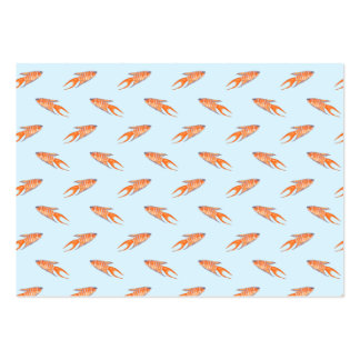 Paradise Fish Pattern on Blue. Large Business Card