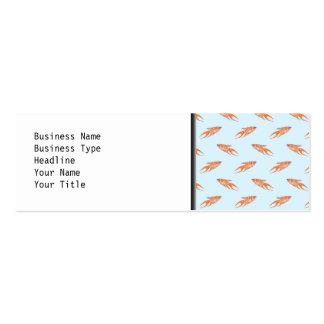 Paradise Fish Pattern on Blue. Mini Business Card
