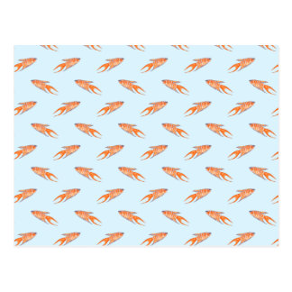 Paradise Fish Pattern on Blue. Post Cards