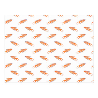 Paradise Fish Pattern. Postcard