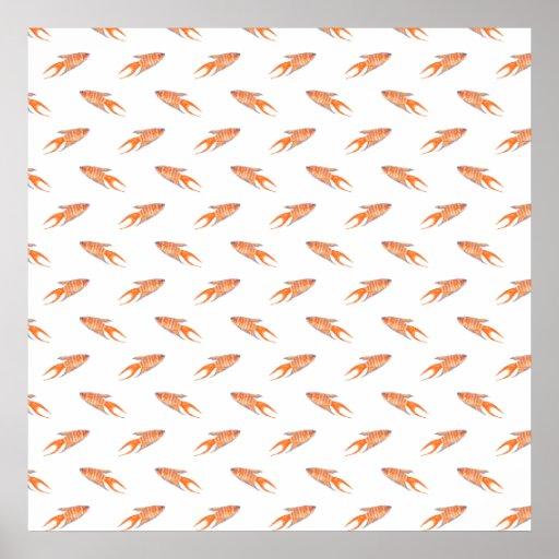 Paradise Fish Pattern. Print